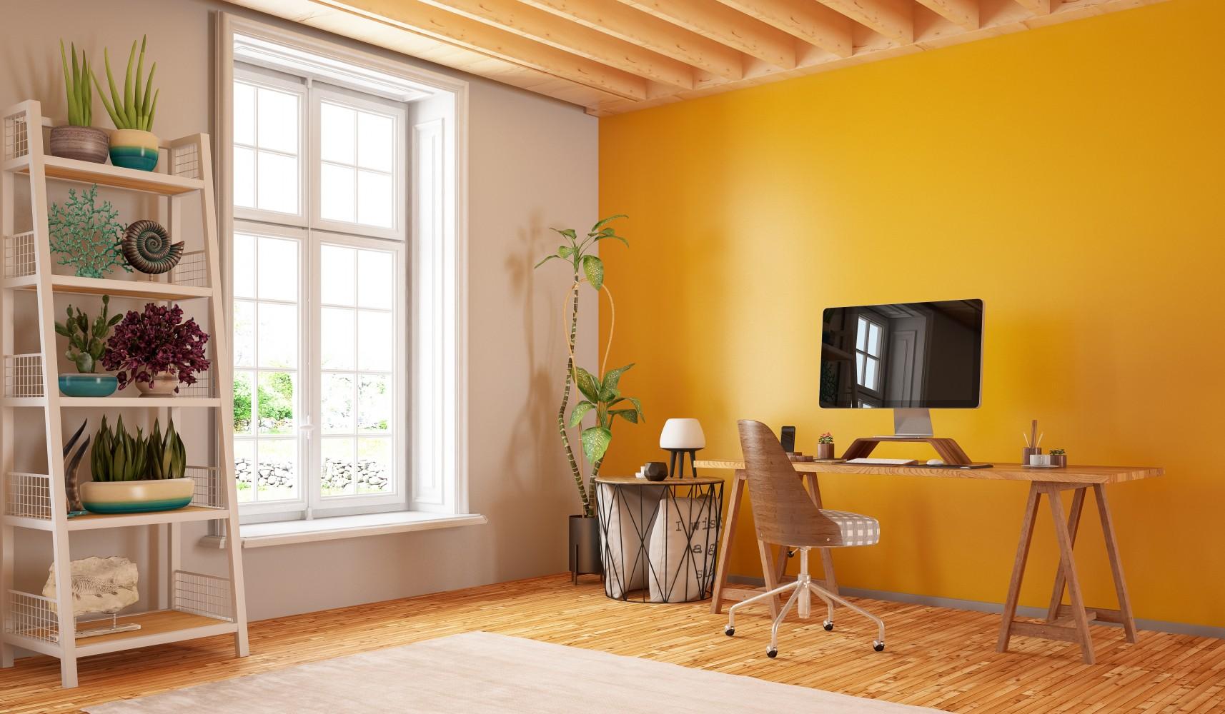 escritorio amarillo