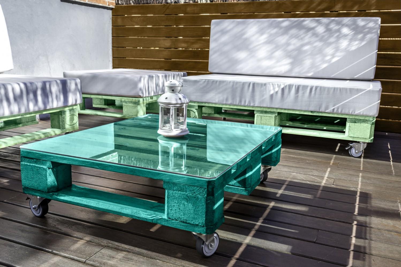 mobiliario madera terraza