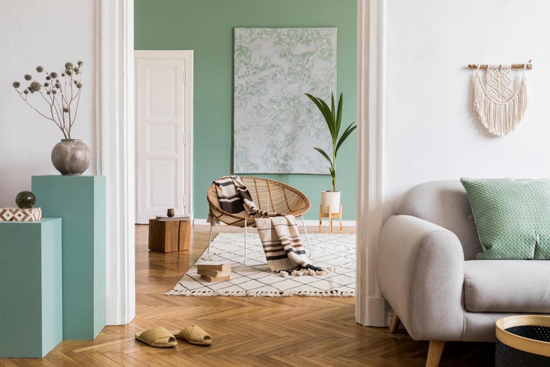 salón verde blanco