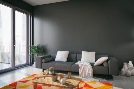 salón gris oscuro