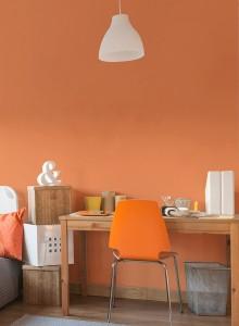 dormitorio juvenil naranja